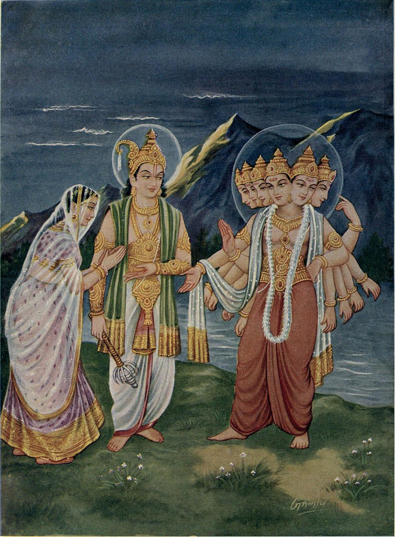 Indra giving Devasena to Skandha.jpg