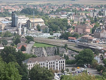Industrial zone and railway station of Thann, Alsace.jpg