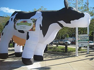 Boston Vegetarian Society - Image: Inflatable Cow