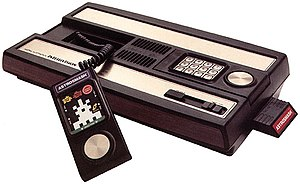 Intellivision with the game AstroSmash