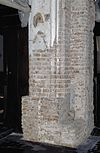 interieur, ontpleisterde zuil met fragmenten van schildering - hattem - 20353091 - rce