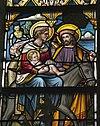 interieur mariakapel, glas in loodraam, detail verkleuringen op gezicht van maria - lith - 20334127 - rce