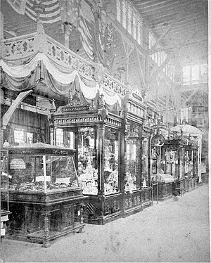 Massachusetts Charitable Mechanic Association - 13th MCMA exhibit, Park Square, Boston, 1878