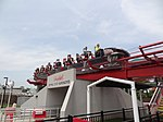 Intimidator train passing over queue.jpg