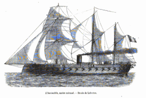 French ironclad Invincible - Image: Invincible 1860