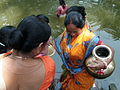 Inviting Goddess Ganga - Hindu Sacred Thread Ceremony - Simurali 2009-04-05 4050075.JPG