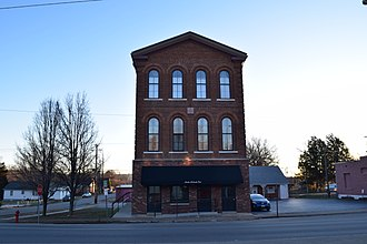 National Register of Historic Places listings in Iron County, Missouri - Image: Ironton Lodge Hall