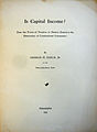 Is Capital Income, Earle, 1921 cover.jpg