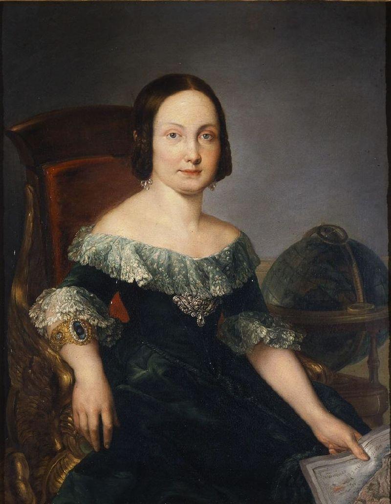 Isabel II estudiando geografнa (Museo del Romanticismo de Madrid).JPG