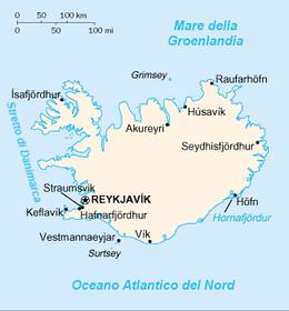 Islanda - Mappa