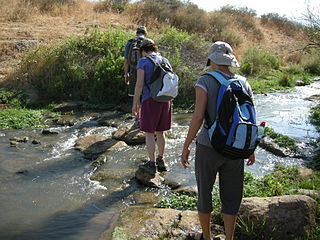 Israel National Trail hiking path that crosses the entire country of Israel