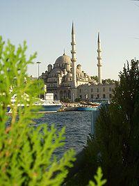 The New Mosque seen from Golden Horn