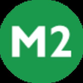 4. Levent (Istanbul Metro) - Image: Istanbul public transport M2 line symbol