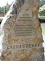István Fekete Monument by Ottó Fittler, sign, 2017 Mosonmagyaróvár.jpg