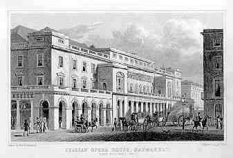 Italian Opera House, Haymarket by Thomas Hosmer Shepherd 1827-28