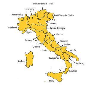 Italian wine - Italian regions