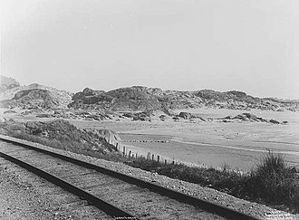 Jæren Line - The narrow-gauged Jæren Line near Ogna in 1908