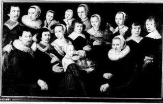 Groepsportret, mogelijk van de familie De Jager