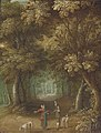 J. van der Lanen A wooded landscape with travellers.jpg