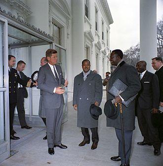 Ahmadou Ahidjo - Ahmadou Ahidjo at the White House with President Kennedy, 1962