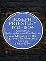 JOSEPH PRIESTLEY 1733-1804 Scientist, Philosopher and Theologian was Minister to the Gravel Pit Meeting here in 1793-1794.jpg