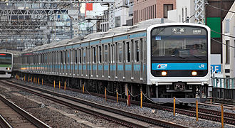 209 series - A Keihin-Tohoku 10-car 209-0 series set in March 2009