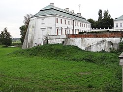 Jabłonowski Palace in Kock - Bridge, moat and strengthen - 01.JPG