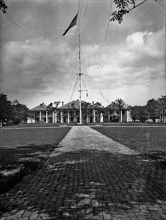 Jackson Barracks - A portion of the Jackson Barracks complex at the start of the 20th century