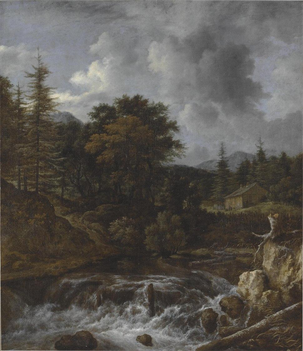 Jacob van Ruisdael - Berglandschap met waterval