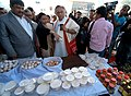 Jairam Ramesh along with the Assam Panchayat and Rural Development and Forest Minister, Shri Rockybul Hussain visits an exhibition stall, at the Gramonnayan Sammelan, in Guwahati on February 12, 2012.jpg