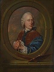 Portret van een schilder, zelfportret van Jan Stolker(?) (1724-1785)