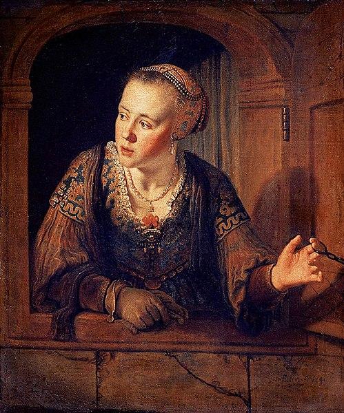 File:Jan Victors - Young Woman at a Window - WGA25065.jpg