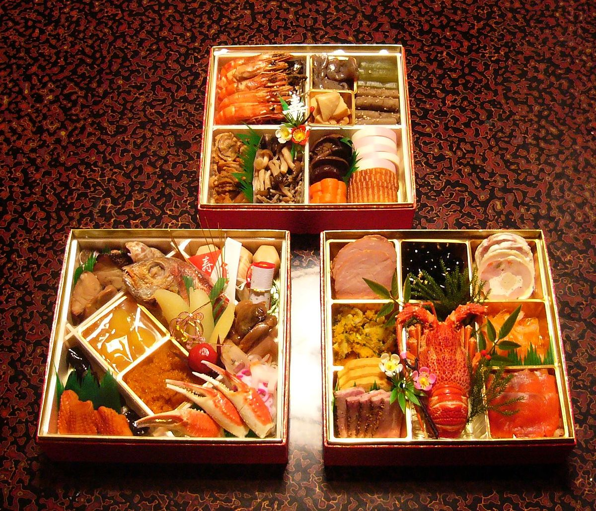 Osechi wikipedia for Ancient japanese cuisine