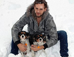 Jason Bellini - Jason Bellini with his dogs Bugsy and Theo