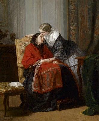 Jean-Baptiste Jules Trayer - Image: Jean Baptiste Jules Trayer Der Besuch 1858