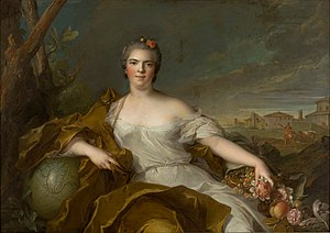Louise Élisabeth of France - Madame Élisabeth as earth, by Jean-Marc Nattier