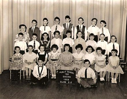 Jeff Hyman aka Joey Ramone 2nd grade class photo 1959 PS196 Queens, NY (back row center) Jeff Hyman aka Joey Ramone 2nd grade class picture.jpg