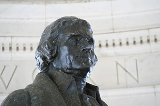Detail of the statue Jefferson statue.JPG