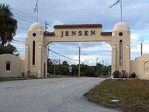 Jensen Beach, Florida - Welcome Arch on NE Dixie Highway, SR 707