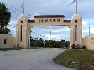 Jensen Beach, Florida - Welcome Arch on NE Dixie Highway, SR 707
