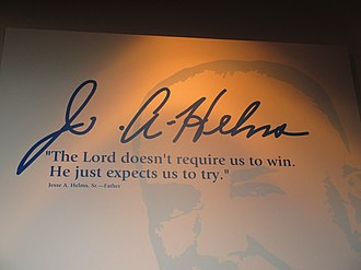 Jesse Helms - Advice from Jesse A. Helms, Sr., to his son; Jesse Helms Center in Wingate, North Carolina