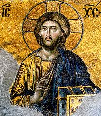 Christ Pantocrator - detail from Deesis mosaic, Hagia Sophia, Istanbul