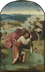 Hieronymus Bosch: Saint Christopher Carrying the Christ Child