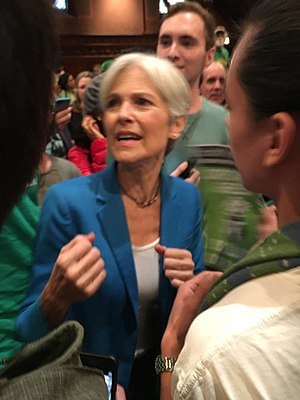 Jill Stein presidential campaign, 2016 - Stein with supporters at a rally in Boston, Massachusetts