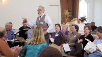 File:Jim Carnes Leads at annual Tri-County Sacred Harp Singing.webm