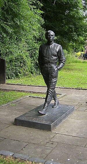 Kilmany - Jim Clark memorial sculpture in Kilmany