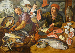 Fish market by Joachim Beuckelaer (Strasbourg version)