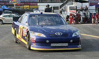 Start and park - Joe Nemechek's 87 car in 2011.