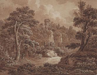 Johann Sebastian Bach (painter) - Image: Johann Sebastian Bach Arkadische Landschaft mit Jäger und Hund