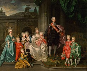 Maria Luisa of Spain - Maria Luisa, her husband Grand Duke Leopold I, and their children (by Johan Zoffany, 1776)